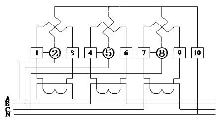 dts6607三相电子式电能表带485通讯