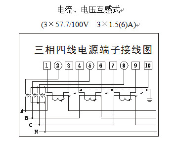 3)三相三线电源端子接线图 三,功能说明 (●代表:具有此项